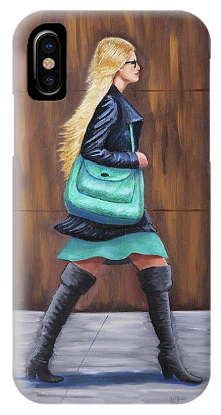 Girl Walking IPhone Case