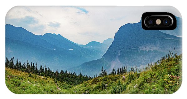 IPhone Case featuring the photograph Glacier Canyon Vista by Lon Dittrick