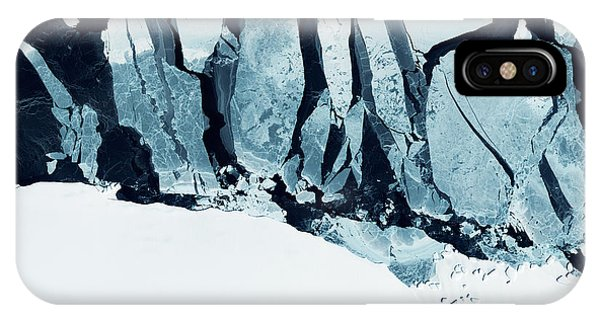White Mountains iPhone Case - Glaciers Of Greenland. Some Graphics by Strahil Dimitrov