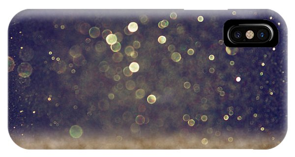 Space iPhone Case - Glitter Vintage Lights Background by Tomertu