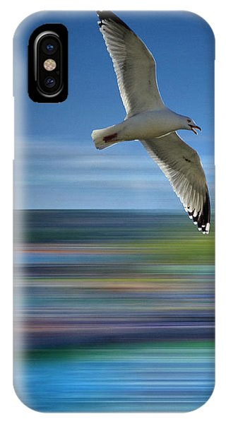 IPhone Case featuring the photograph Gull Flight #192 by Edmund Nagele