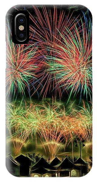 IPhone Case featuring the photograph Global Fest Light Show by Brad Allen Fine Art