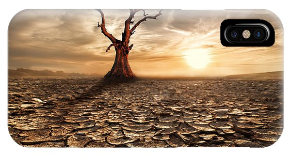 Weathered iPhone Case - Global Warming Concept. Lonely Dead by Perfect Lazybones
