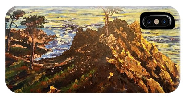 IPhone Case featuring the painting Glorious Sunset by Ray Khalife