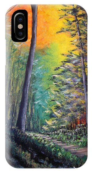 Glowing Forrest IPhone Case