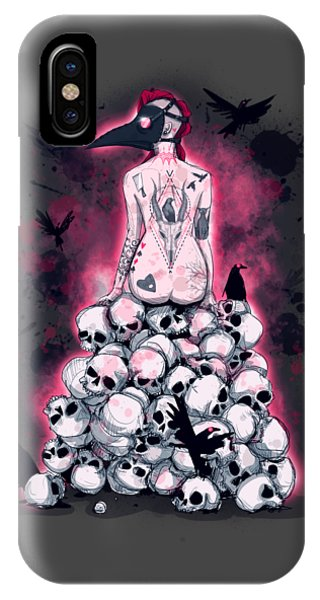 Raven iPhone Case - God Called In Sick by Ludwig Van Bacon