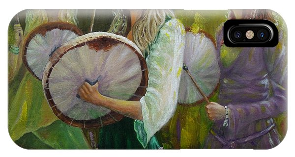 Goddess Drummers IPhone Case