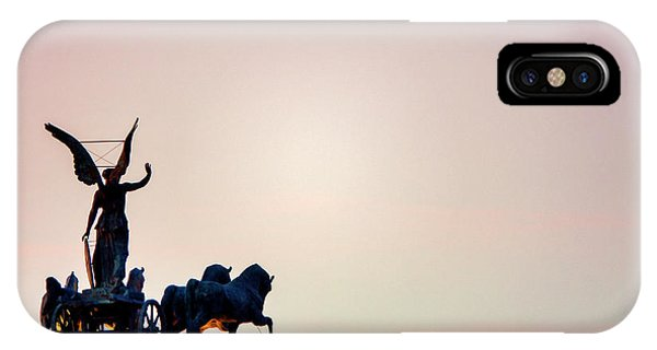 IPhone Case featuring the photograph Goddess Victoria At Sunset by Fabrizio Troiani