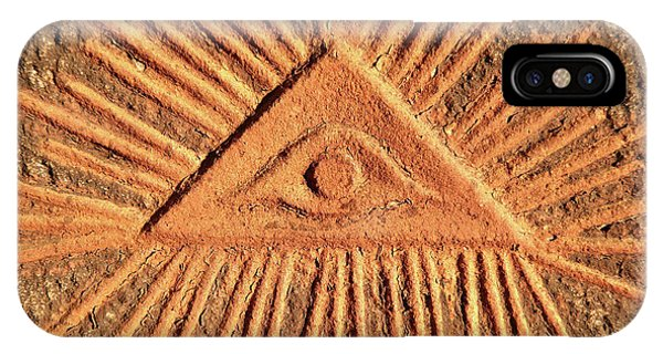 iPhone Case - God's Eye - Old Relief by Michal Boubin