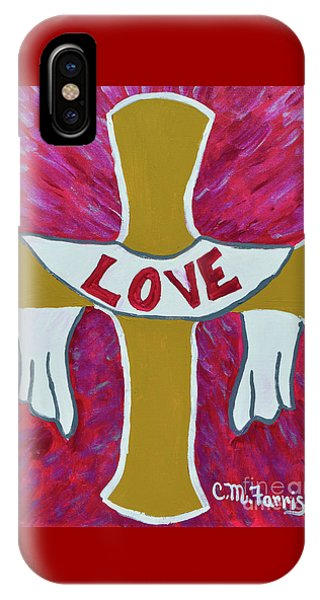 IPhone Case featuring the painting God's Love by Christopher Farris