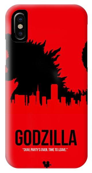 Hit iPhone Case - Godzilla by Naxart Studio