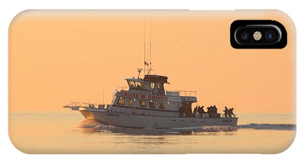IPhone Case featuring the photograph Going Fishing On The Angler by Robert Banach