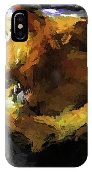 Gold Cat And The Shadow IPhone Case
