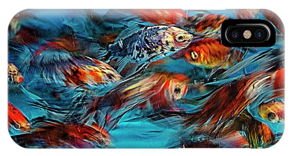 Gold Fish Abstract IPhone Case