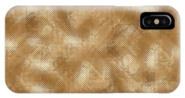 Gold Metal  IPhone Case