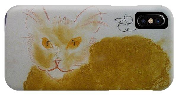 Golden Cat IPhone Case