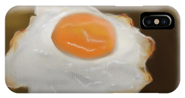 IPhone Case featuring the pastel Golden Fried Egg by Fe Jones