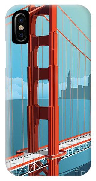 Famous People iPhone Case - Golden Gate Bridge by Nikola Knezevic