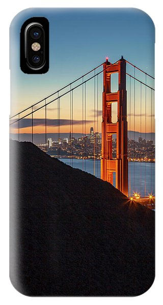 Golden Gate Christmas Glow IPhone Case