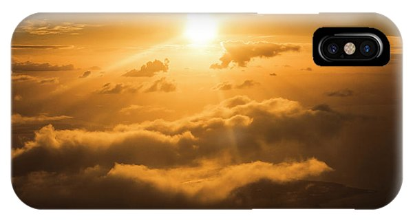 Above iPhone Case - Golden Glow by Jorgo Photography - Wall Art Gallery