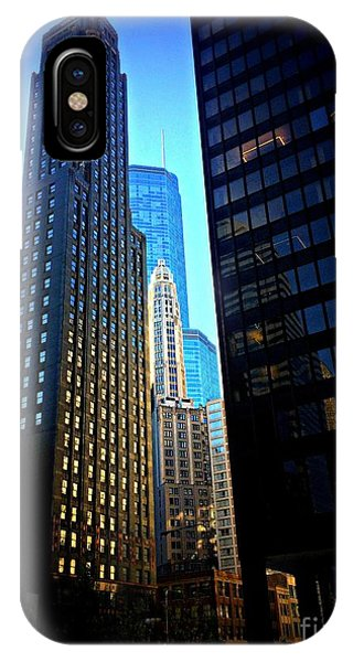 Golden Hour Reflections - City Of Chicago IPhone Case