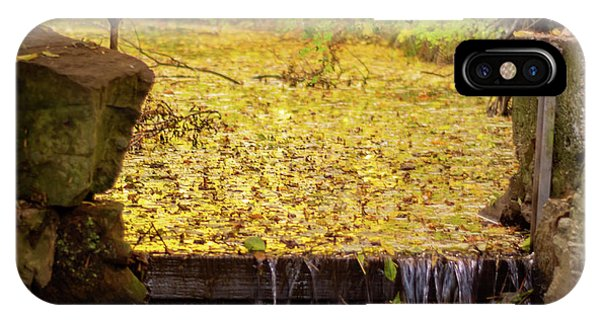 IPhone Case featuring the photograph Golden Leaf River by Scott Lyons