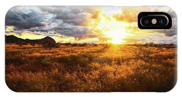 Golden Light Of Southern Arizona IPhone Case