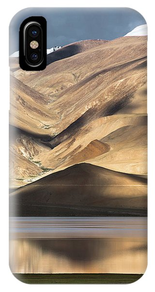 IPhone Case featuring the photograph Golden Light Tso Moriri, Karzok, 2006 by Hitendra SINKAR