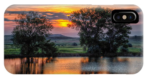Golden Pond At 36x60 IPhone Case