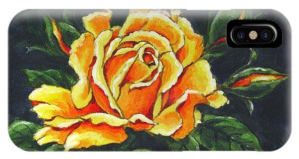Golden Rose Sketch IPhone Case