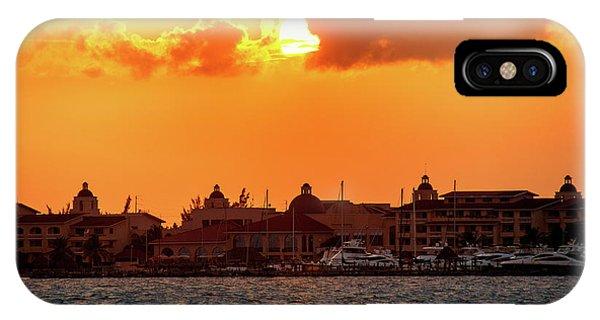 Golden Sky In Cancun IPhone Case