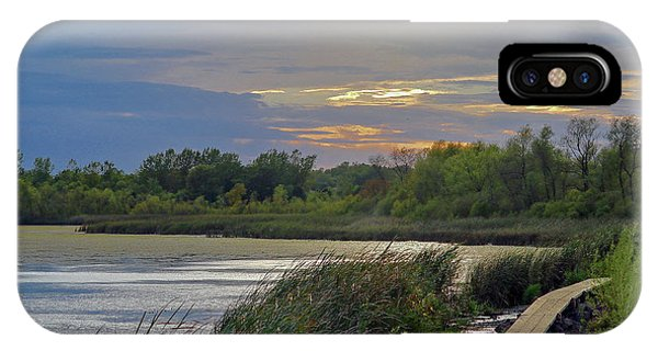 Golden Sunset Over Wetland IPhone Case