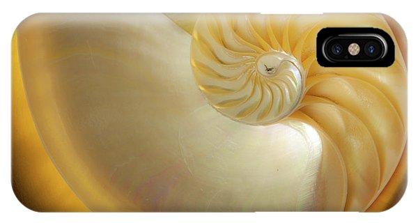Golden_nautilus_0692 IPhone Case
