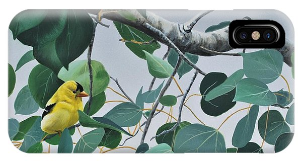 Goldfinch And Aspen IPhone Case