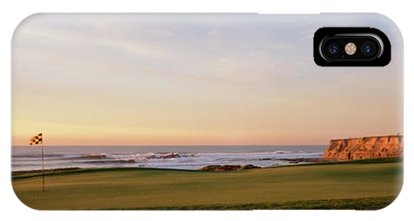 Half Moon Bay iPhone Case - Golf Course On The Coast, Half Moon by Panoramic Images