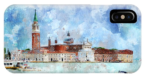 Gondola Rides And San Giorgio Di Maggiore In Venice IPhone Case