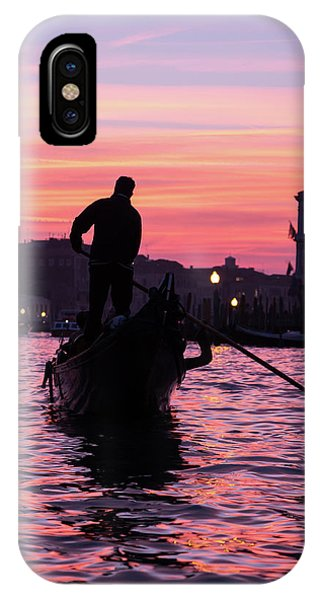 Gondolier At Sunset IPhone Case