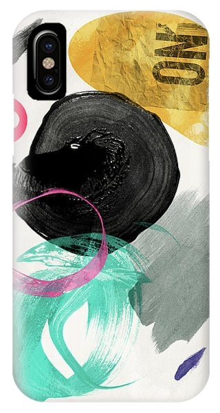Rectangular iPhone X Case - Good Abstract  by Mark Ashkenazi