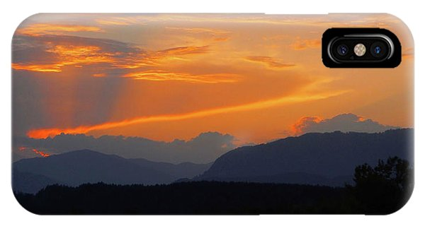 Sonne iPhone Case - Good Night Carinthia by Juergen Weiss