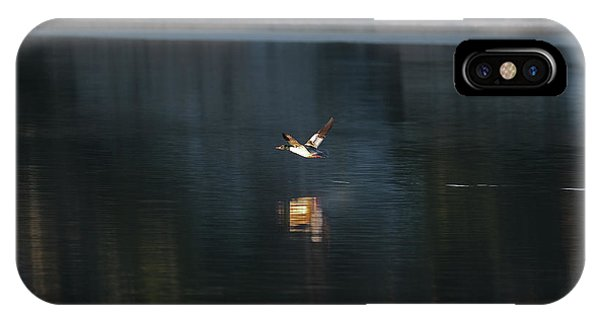 IPhone Case featuring the pyrography Goosander by Magnus Haellquist