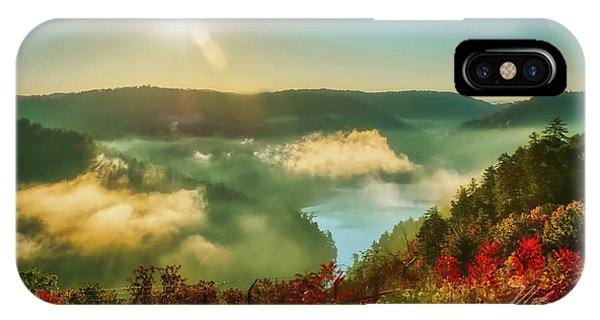 IPhone Case featuring the photograph Gorge Sunrise by Meta Gatschenberger