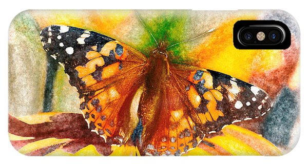 IPhone Case featuring the photograph Gorgeous Painted Lady Butterfly by Don Northup
