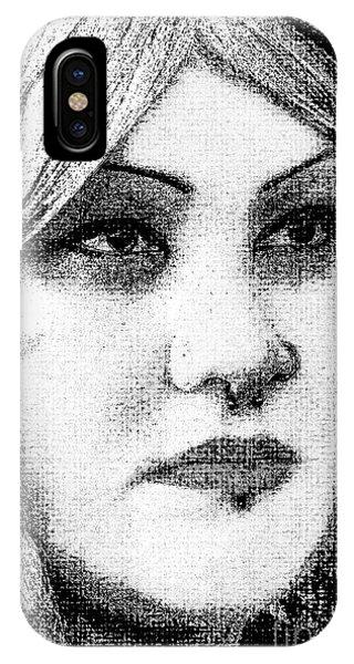 Goth Headshot IPhone Case