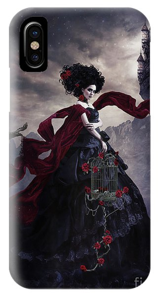 Gothic iPhone Case - Gothic Bride  by Shanina Conway
