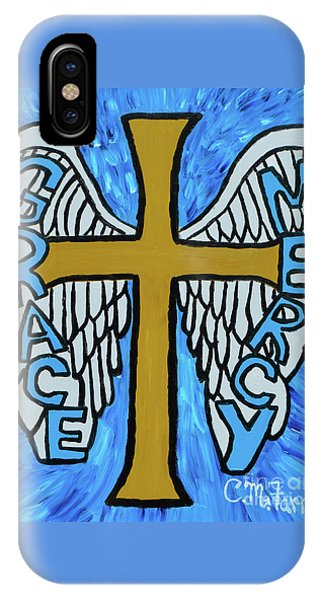 IPhone Case featuring the painting Grace And Mercy by Christopher Farris