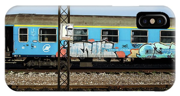 IPhone Case featuring the photograph Graffitied Train by Edward Lee