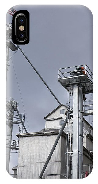 Silo iPhone Case - Grain And Feed Silos Bethel Vermont by Edward Fielding
