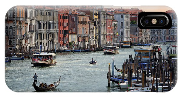Grand Canal Gondolier Venice Italy Sunset IPhone Case
