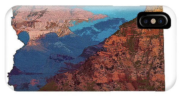 Grand Canyon In The Shape Of Arizona IPhone Case