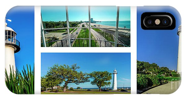 Grand Old Lighthouse Biloxi Ms Collage A1a IPhone Case